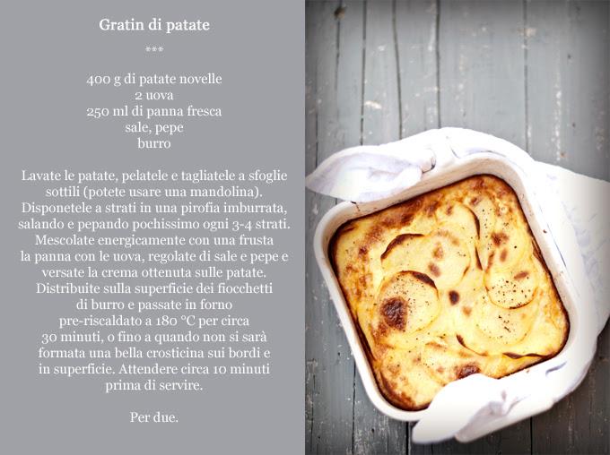 ricetta gratin