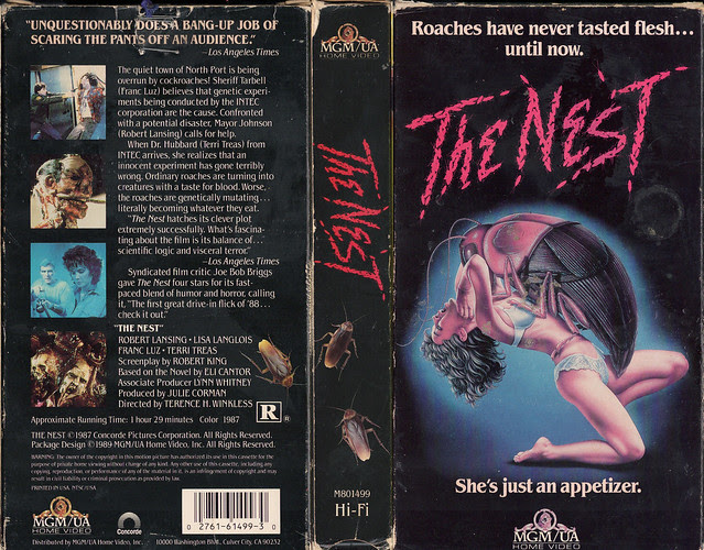 THE NEST (VHS Box Art)