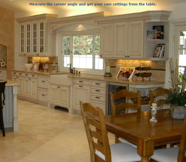 Installing Crown Molding on Kitchen Cabinets