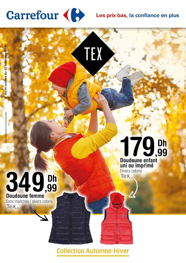 Catalogue TEX Carrefour Maroc Octobre 2019