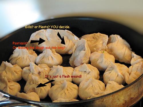 Frying Potstickers