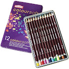 Derwent Coloursoft - Colored pencil - assorted colors - 4 mm - pack of 12