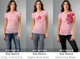 Bop Basics Breast Cancer Awareness Tee - Cindy Crawford, Sophia Bush, Jaime King