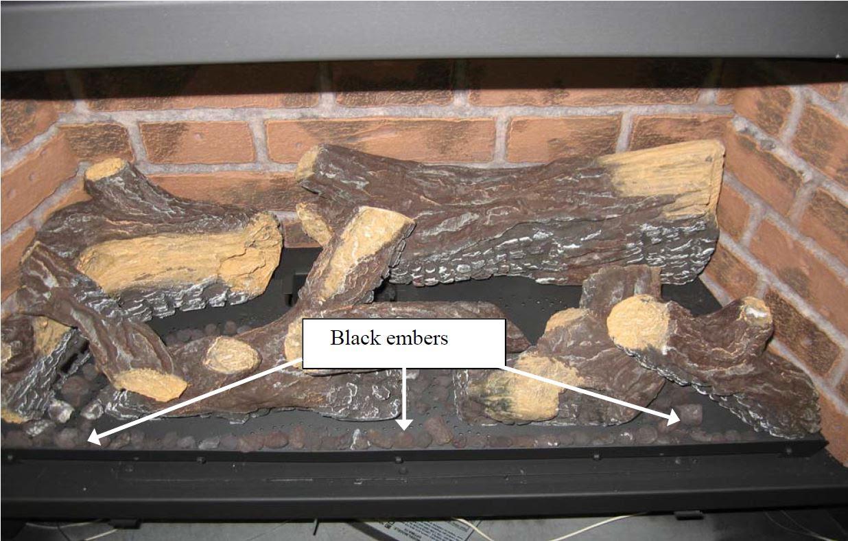 Gas Log Gas Log Ember Placement