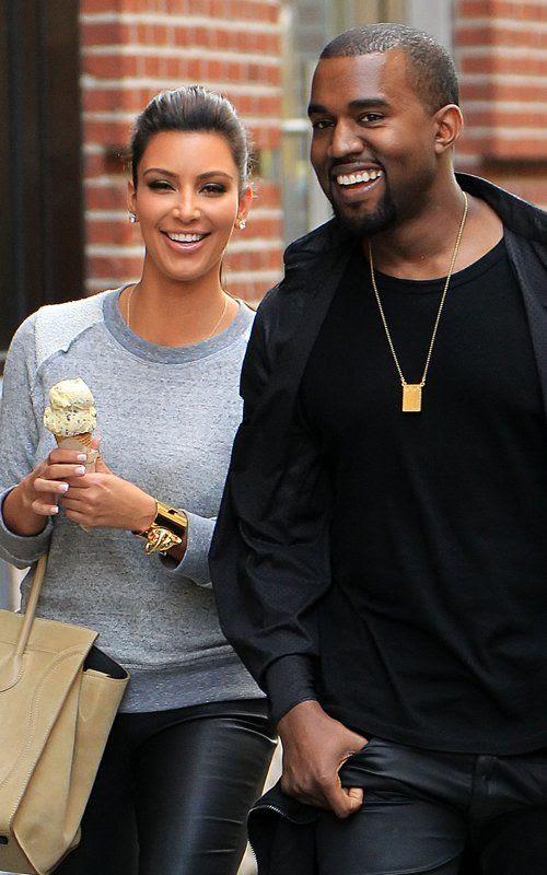 NYC - April 21, 2012, Kanye West, Kim Kardashian