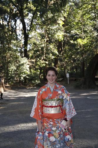 Foreigner in kimono