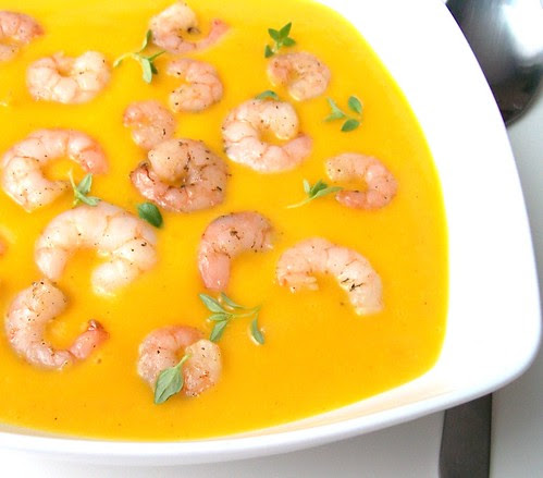 Trinta morkų sriuba su krevetėmis3