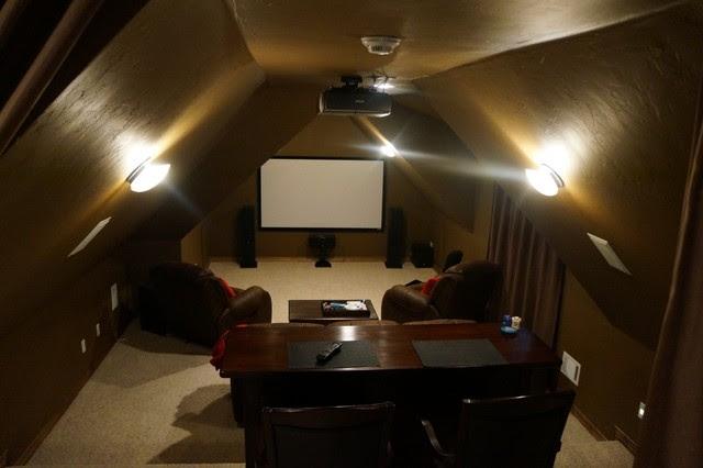 Attic Theater room - traditional - media room - oklahoma city - by ...