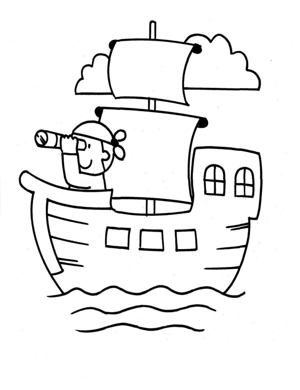 Ausmalbild Schiff kostenlos 6