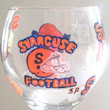Hand painted Syracuse University Sports Glasses | Clearly Susan