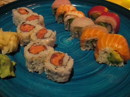 Spicy Tuna and Rainbow Rolls