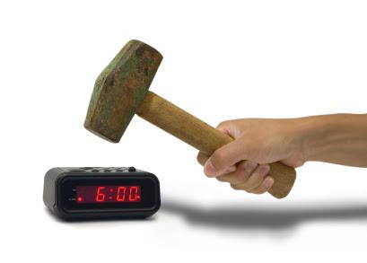 Smashing an Alarm Clock