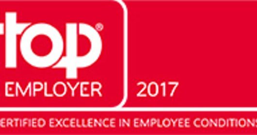SAINT-GOBAIN ENDNU ENGANG CERTIFICERET TOP EMPLOYER