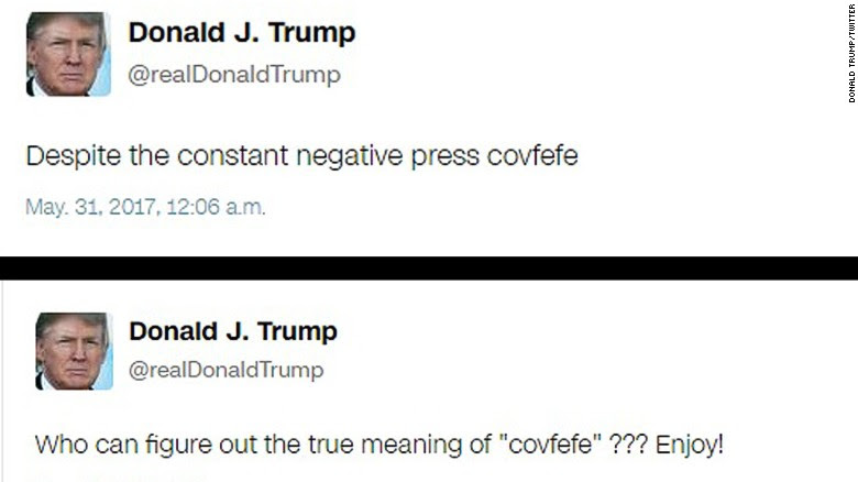 Trump tweets covfeve