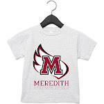 NCAA Meredith College Angels RYLMDC06, G.A.3001T, AHTR, 4T Size 4T AthleticHeather
