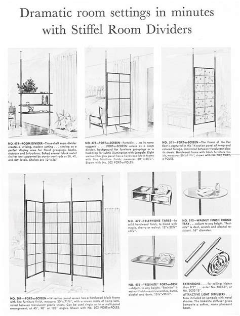 Vintage tension pole dividers catalogue | Modern room