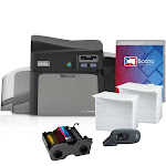 Fargo DTC4250e Dual Sided ID Card Printer & Complete Supplies Package with Bodno Bronze Edition ID Software