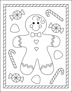 950 Free Christmas Coloring Pages For Kindergarten  Images