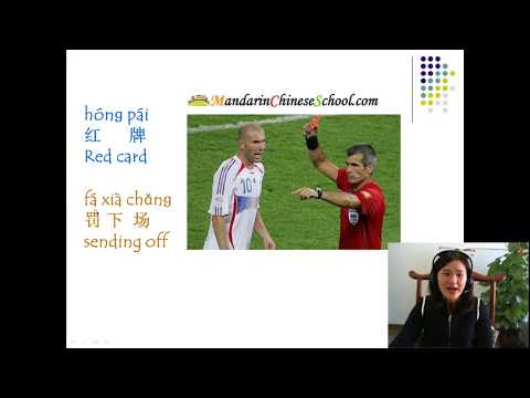 Learn Chinese - Soccer / Football Vocabulary