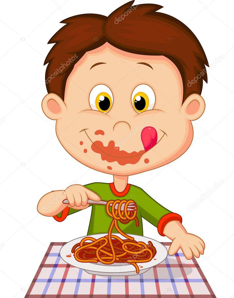 Afbeeldingsresultaat voor spaghetti eten