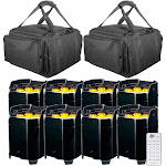 (8) American DJ Element QA WiFLY Battery Powered LED Par Package