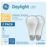 GE Basic Light Bulbs, LED, Daylight, 16 Watts, 2 Pack - 2 bulbs