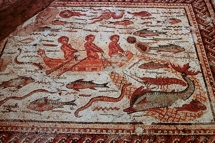 Resultado de imagen de Mosaico en la Casa de Hippolytus.