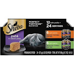 Sheba Perfect Portions Premium Pate Poultry Cat Food, Chicken & Roasted Turkey Entree - 24 cups, 1.32 oz each