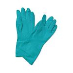 Boardwalk 183m Flock-Lined Nitrile Gloves Medium Green
