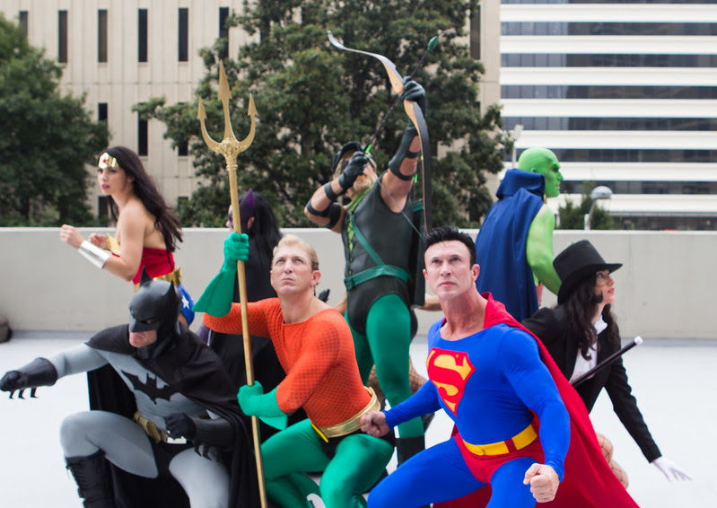 Dragon*Con 2013: JLA vs Avengers Shoot