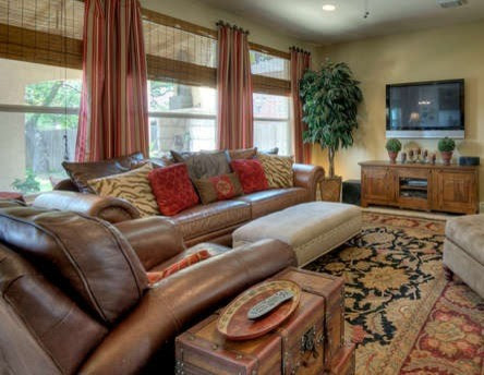 Red and Brown Living Room - Living Room Designs ...