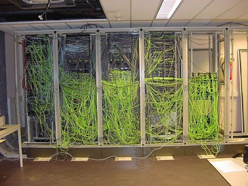 Server Room Bad Wiring Jobs - Network Security Cameras - Houston