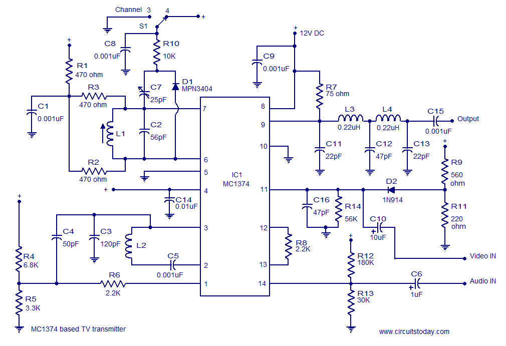 Transmitter And Receiver Circuit Diagram For Rc Car