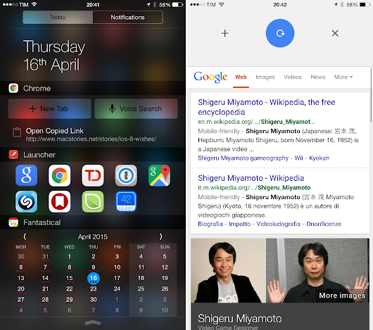Chrome for iOS Gets Widget, New Gestures, 1Password Support