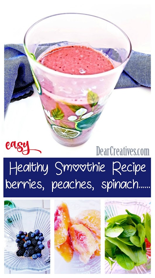 Berry Smoothie Recipe With Greens Tasty and Healthy - DearCreatives.com