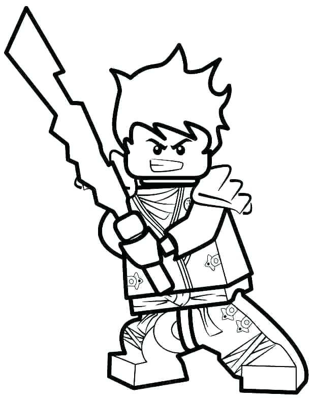 Lego Ninjago Jay Coloring Pages Hexopict Wall Ideas