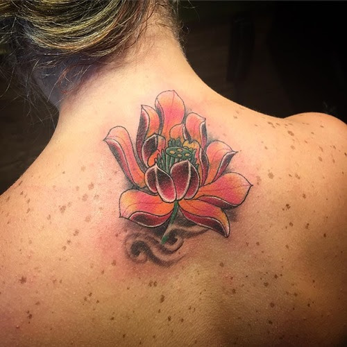Lotus Flower Tattoo Cover Up