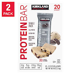 Kirkland Signature Protein Bars Cookies and Cream 20 count, 2-pack