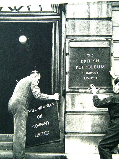 British Petroleum  as successor to A.I.O.C. From: BP 50 years in   Pictures
