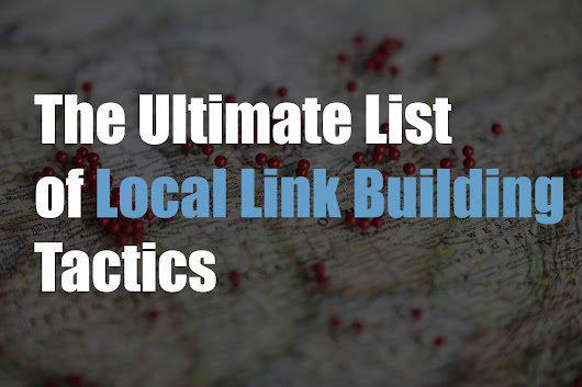Ultimate List of Local Link Building Tactics By Nifty