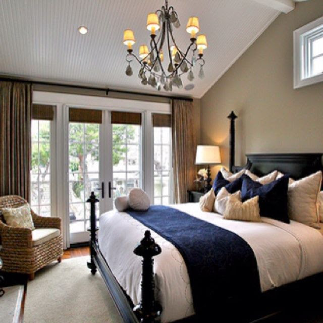 navy bedroom | Navy Blue | Pinterest