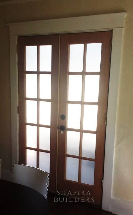 Replacing French doors with new ones by Shapira Builders