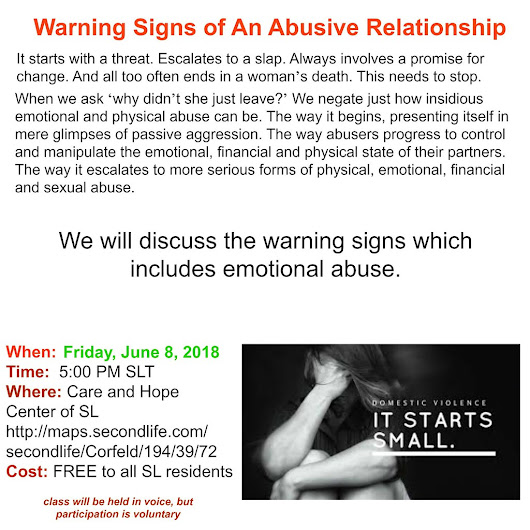 Warning Signs of an Abusive Relationship June 2018