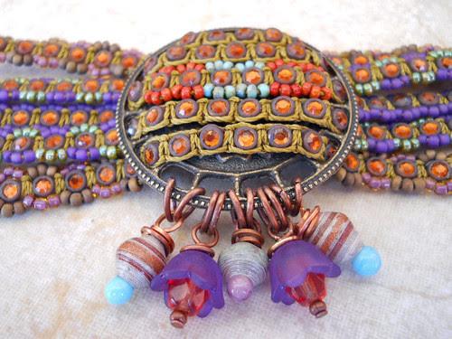 Lavender Equinox Bracelet Focal by The Beading Yogini by beadingyogini