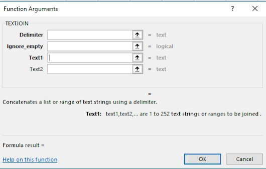TextJoin - An Excel 2016 Text Function