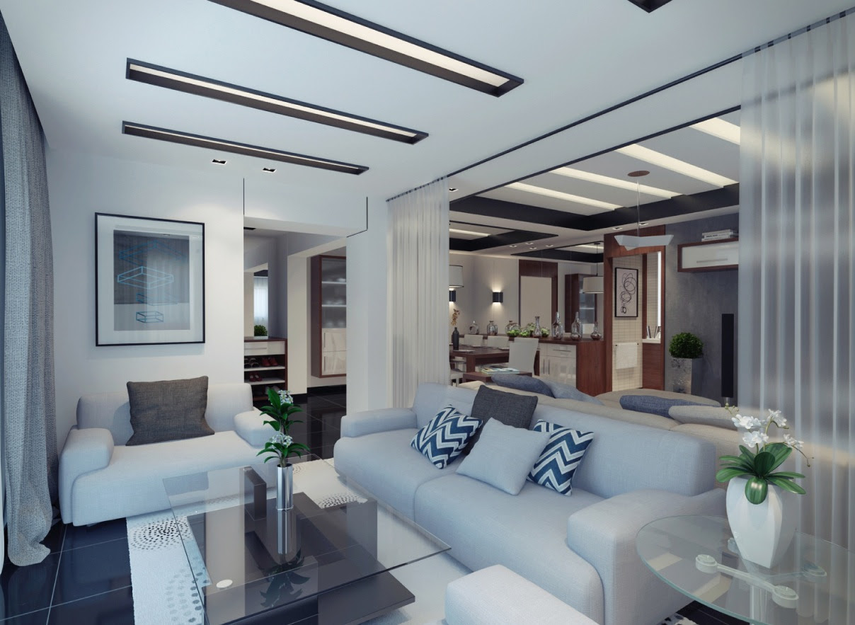 Modern Apartment Design With Soft and Sleek Shades ...