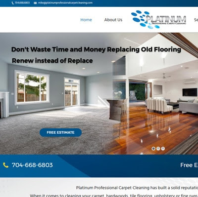 Professional Cleaning Website Launch - Masterpiece Web Designs
