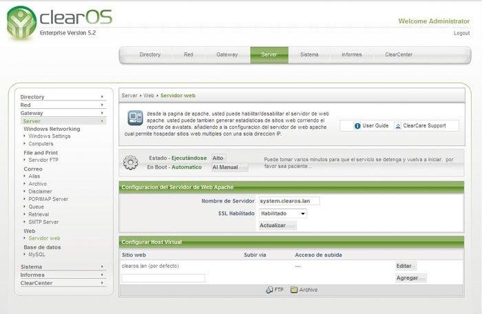 ClearOS servidor 7