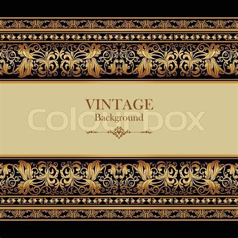 Vintage background, elegance antique, victorian gold