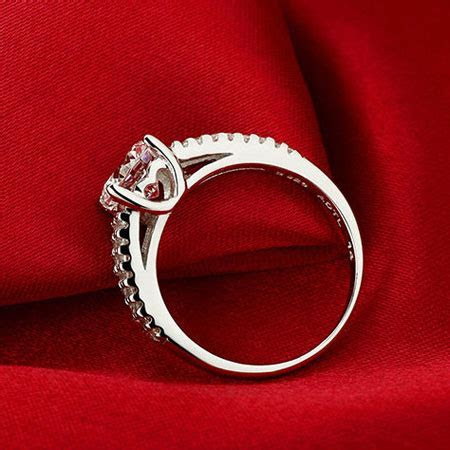 Matching Sterling Silver Wedding Rings Cubic Zirconia